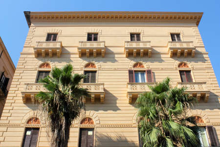 dormitories: Residential building in Palermo Stock Photo