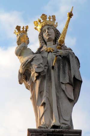 freising: Mary statue in Freising