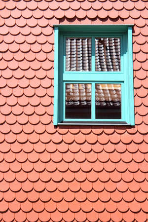 attics: opening in a roof Stock Photo