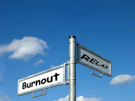 Burnout and Relax (out, stress, meditation)
