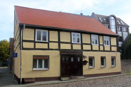 brandenburg home ownership: Old town of Nauen Editorial
