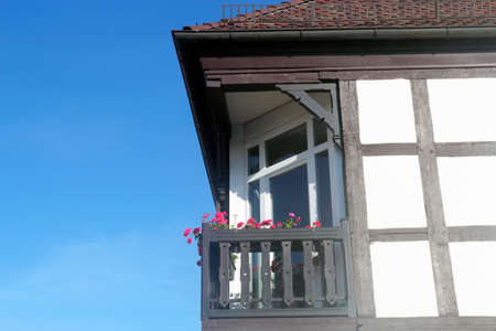family owned: Half-timbered house