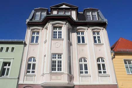 lower lusatia: Old building facades