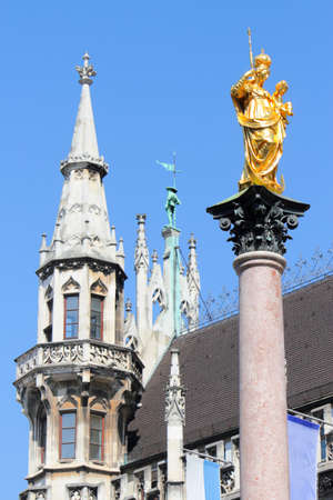 New Town Hall and Marian column