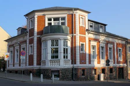 stucco house: Corner house Editorial