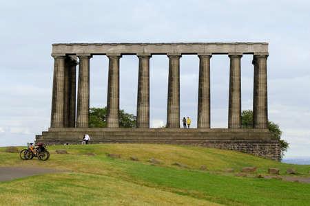 touristy: Edinburgh National Monument Stock Photo