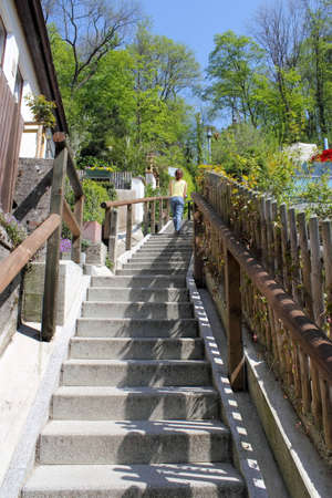 living idyll:  living idyll with stairs