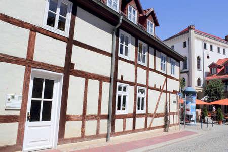 Half-timbered town hall and photo