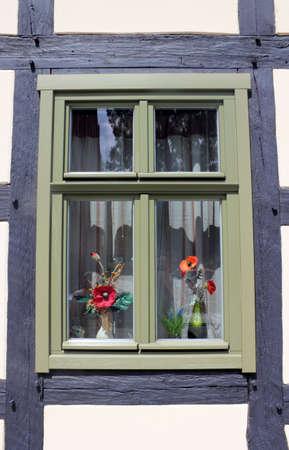 Timber windows Stock Photo - 13103184
