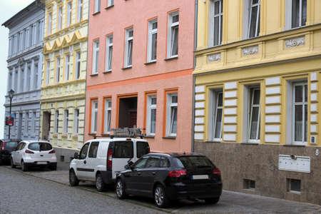mietshaus: Brandenburg House Row Stock Photo