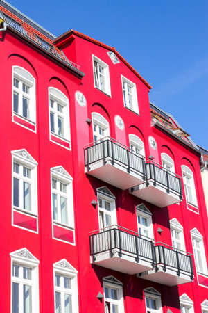 mietshaus:  red old building Editorial