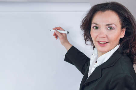 Coaching on the flipchart Stock Photo - 13403904