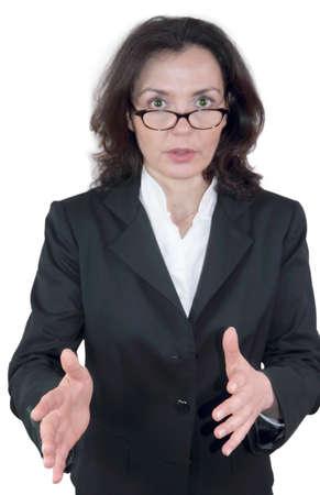 discussed: Businesswoman discussed