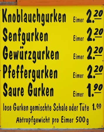 lower lusatia: Spreewald Cucumbers