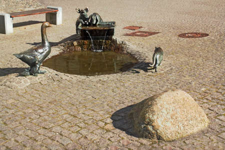 animal figurines: Fountain Stock Photo