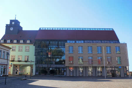 mietshaus: Old and new city hall