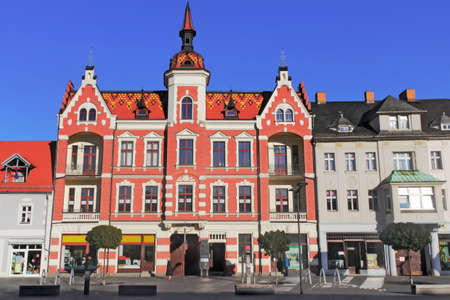 house gable: Old City Finsterwalde Editorial