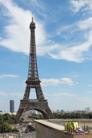 Large and small Eiffel Towers photo