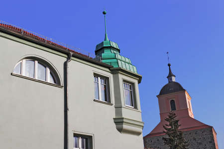 mietshaus: Old building and bell tower