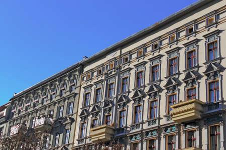 mietshaus: brick facades