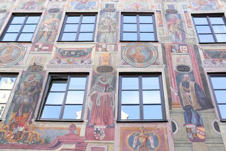 Landshut old building facade
