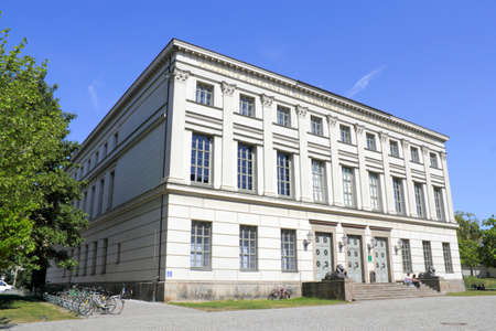 lion figurines: Lion Building University of Halle  Saale
