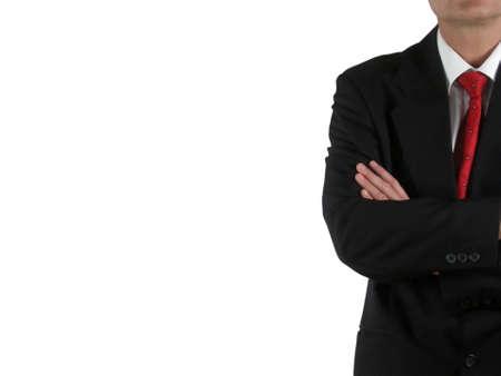 defensive posture: Hombre de negocios