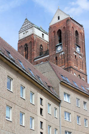 mietshaus: Slab and Cathedral Stock Photo