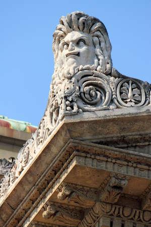 lion figurines: Detail of Teatro Massimo