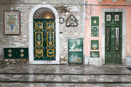 Front doors in Taormina photo