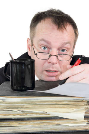 civil disorder: accountant Stock Photo