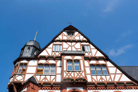 Half-timbered house with a roof tower photo