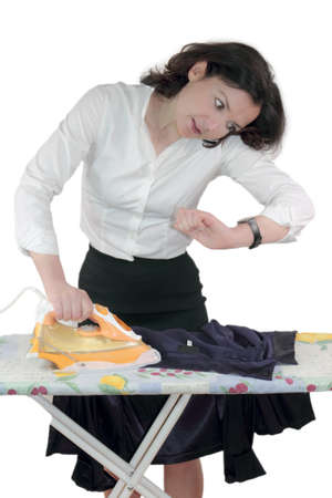 Ironing stress Stock Photo - 14361421