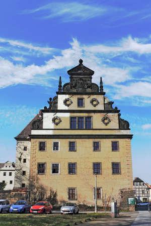 house gables: Augusteum en Wittenberg