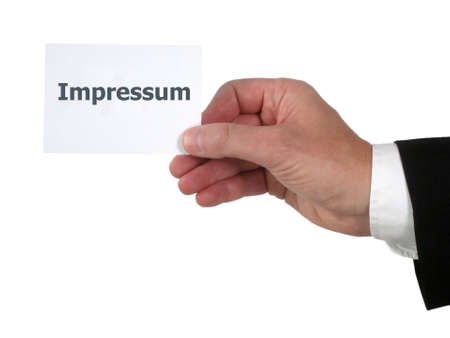 Impressum Stock Photo - 14434442