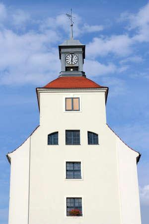 gable home renovation: City Hall Treuenbrietzen Stock Photo