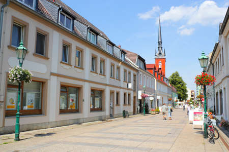 mietshaus: Old City of Schwedt Stock Photo