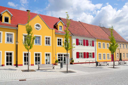 mietshaus: Renovated houses line Editorial
