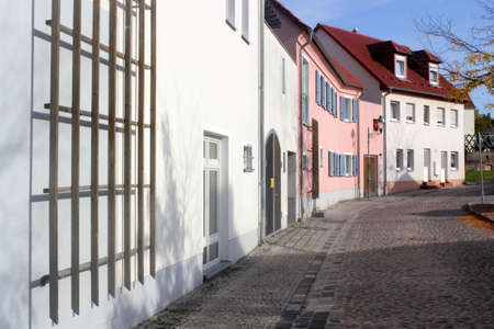 mietshaus: Renovated houses line Stock Photo
