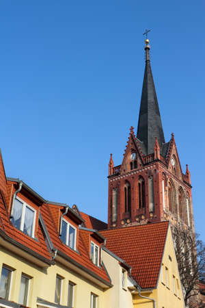 Roofs with church photo