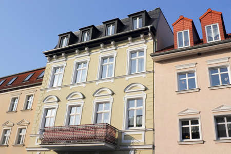 mietspiegel: Renovated row of houses Stock Photo