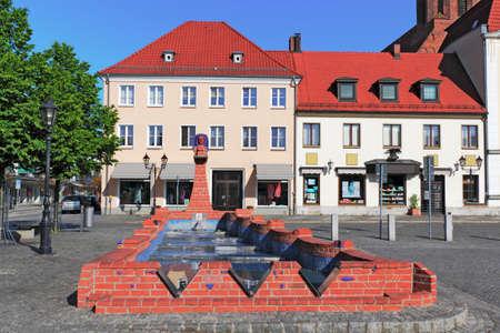 town idyll: Beeskow City Fountain Editorial