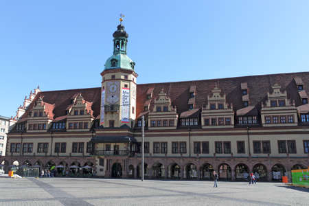 house gable: Leipzig Old City Hall Editorial