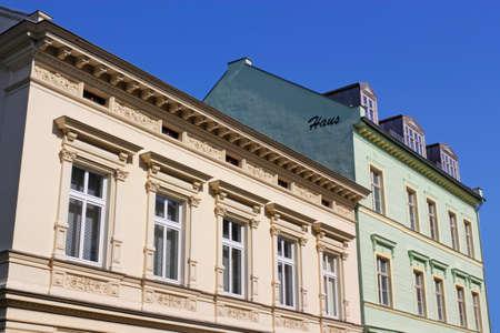 stucco facade: edifici ristrutturati