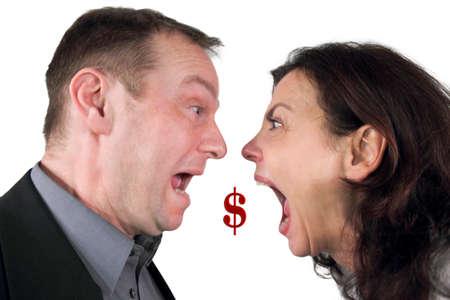 choleric: Dollar crisis Stock Photo