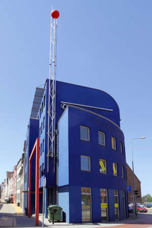 Blue business building