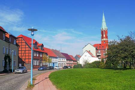 brandenburg home ownership: Idyllic town with steeple