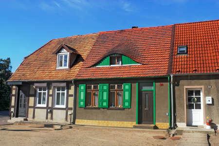 rij huizen: Oude rijtjeshuizen