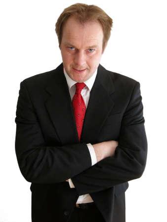 choleric: Businessman - choleric type Stock Photo