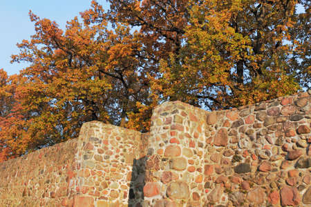 substantiate: City wall in autumn